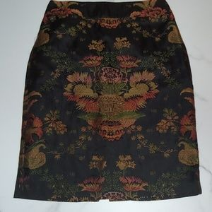 Cabi oriental inspired brocade skirt sz 6